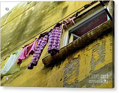 Laundry Hanging In Rovinj, Croatia Acrylic Print