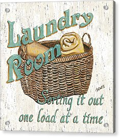 Laundry Room Sorting It Out Acrylic Print by Debbie DeWitt