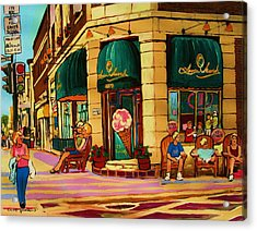 Laura Secord Candy And Cone Shop Acrylic Print by Carole Spandau