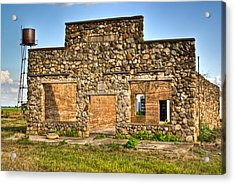 Laura Town Ghost Town In Arkansas  Acrylic Print by Douglas Barnett