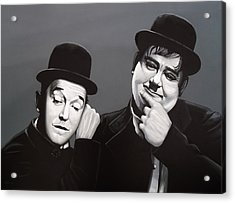 Laurel And Hardy Acrylic Print by Paul Meijering