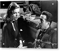Lauren Bacall Humphrey Bogart Film Noir Classic The Big Sleep 1 1945-2015 Acrylic Print