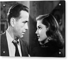 Lauren Bacall Humphrey Bogart Film Noir Classic The Big Sleep 2 1945-2015 Acrylic Print