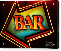 Laurettes Bar Acrylic Print by Barbara Teller