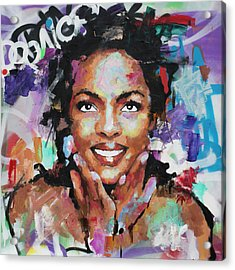 Acrylic Print featuring the painting Lauryn Hill by Richard Day