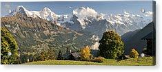 Lauterbrunnen Valley With Mt Eiger, Mt Acrylic Print