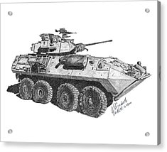 Acrylic Print featuring the painting Lav-25 by Betsy Hackett