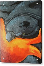 Acrylic Print featuring the mixed media Lava 1 by Lucas Boyd