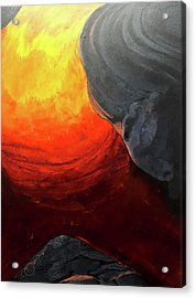 Acrylic Print featuring the painting Lava 2 by Lucas Boyd