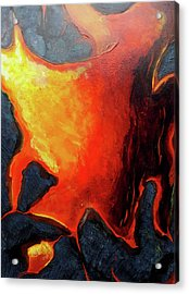 Acrylic Print featuring the painting Lava 3 by Lucas Boyd