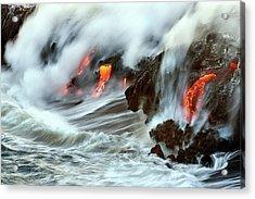 Lava And Ocean Acrylic Print