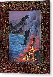 Acrylic Print featuring the painting Lava Flow by Darice Machel McGuire