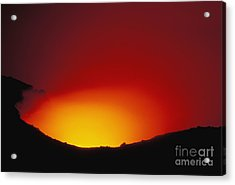 Lava Flows At Night Acrylic Print by William Waterfall - Printscapes