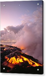 Lava Flows At Sunrise Acrylic Print by Peter French - Printscapes
