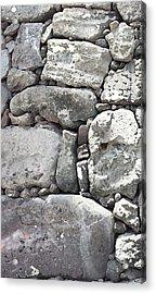 Lava Rock Wall 1 Triptych L Acrylic Print