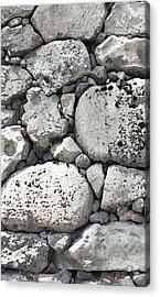 Lava Rock Wall 1 Triptych C Acrylic Print