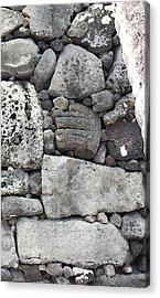Lava Rock Wall 1 Triptych R Acrylic Print
