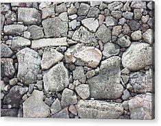 Lava Rock Wall 3 Acrylic Print
