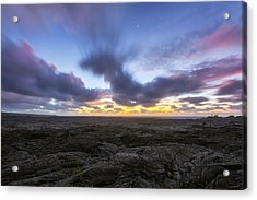 Acrylic Print featuring the photograph Lava Twilight by Ryan Manuel