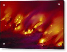 Lava Up Close Acrylic Print by Ron Dahlquist - Printscapes