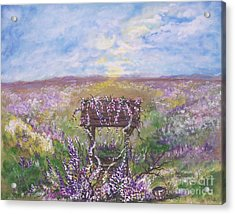 Acrylic Print featuring the painting Lavendar Wishes by Leslie Allen
