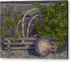 Lavender And Lobster Acrylic Print