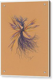 Acrylic Print featuring the drawing Lavender Breeze... by Dawn Fairies