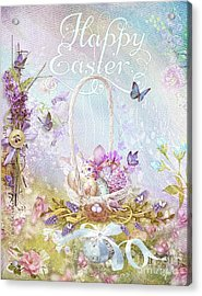 Acrylic Print featuring the mixed media Lavender Easter by Mo T