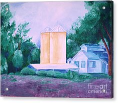 Acrylic Print featuring the painting Lavender Farm Albuquerque by Eric  Schiabor