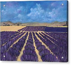 Acrylic Print featuring the painting Lavender Field by Anastasiya Malakhova