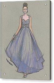 Lavender Gala Illustration Acrylic Print
