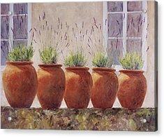 Lavender Garden Acrylic Print