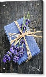 Lavender Handmade Soap Acrylic Print by Elena Elisseeva
