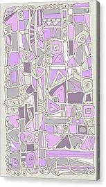 Lavender Hearts Acrylic Print by Linda Kay Thomas