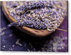Lavender In A Wooden Scoop Acrylic Print