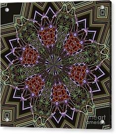 Lavender Mandala 1 Acrylic Print