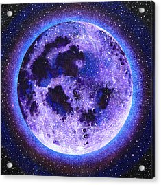 Lavender Moon Acrylic Print by Shelley Irish