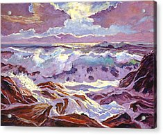 Lavender Ocean Acrylic Print