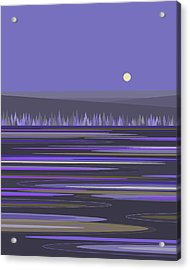 Acrylic Print featuring the digital art Lavender Reflections by Val Arie