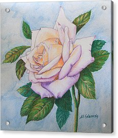 Acrylic Print featuring the drawing Lavender Rose by Marna Edwards Flavell