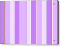 Acrylic Print featuring the mixed media Lavender Stripe Pattern by Christina Rollo