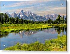 Lavender Teton Peaks  Acrylic Print