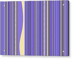 Acrylic Print featuring the digital art Lavender Twilight - Stripes by Val Arie