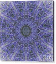 Lavender Twirl Kaleido Acrylic Print
