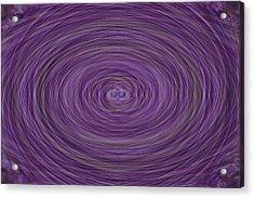 Lavender Vortex Acrylic Print