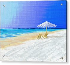 Lawn Chairs In Paradise Acrylic Print
