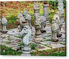 Lawn Chess Acrylic Print by Chris Anderson