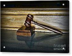 Lawyer - The Judge's Gavel Acrylic Print by Paul Ward