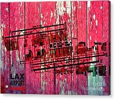 Lax Airport Map Acrylic Print