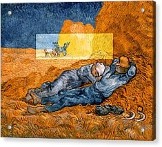 Layered 14 Van Gogh Acrylic Print